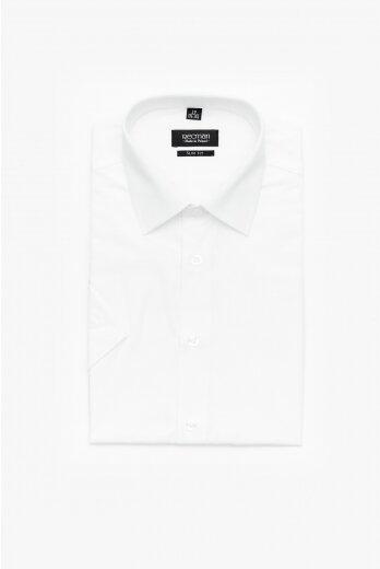 koszula versone 9001 krótki rękaw slim fit biały