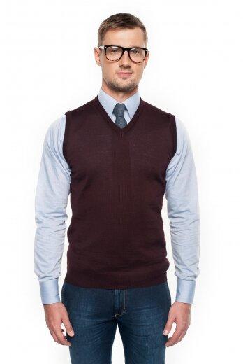 sweter veneto w serek bordo
