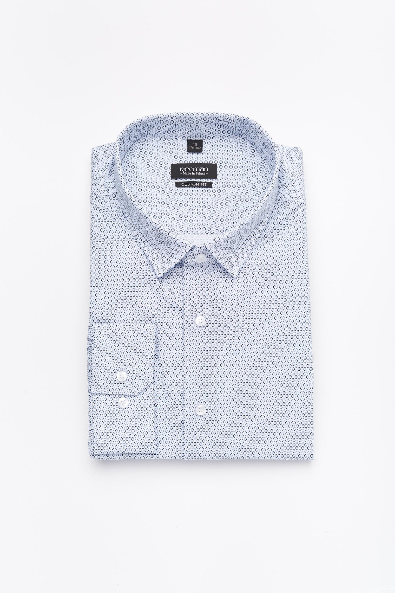 koszula versone 2779 długi rękaw custom fit niebieski