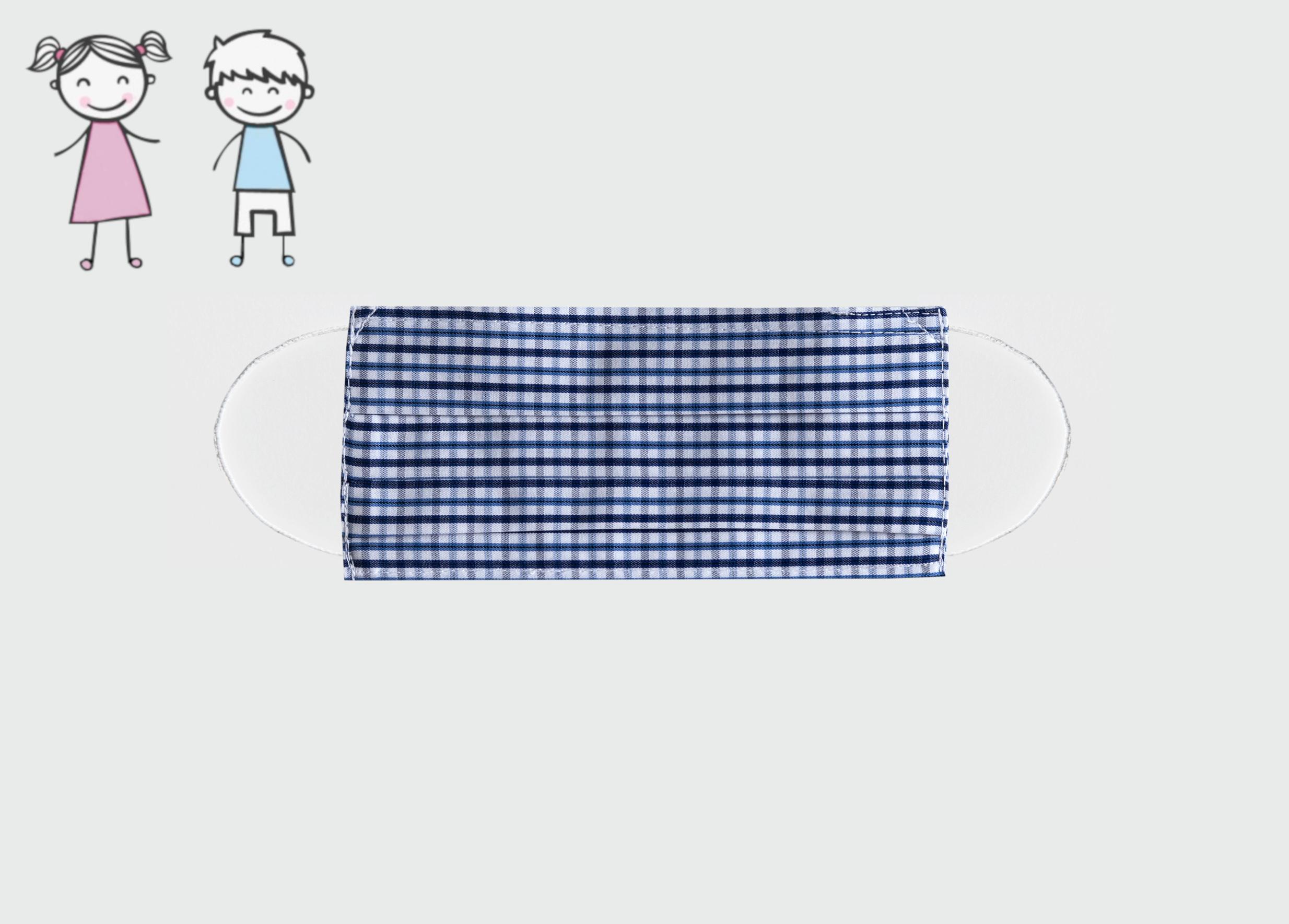 maseczka dziecięca błękit 7-12 lat
