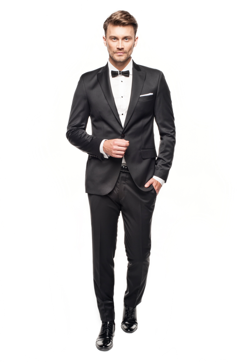 garnitur winchell 311 czarny slim fit