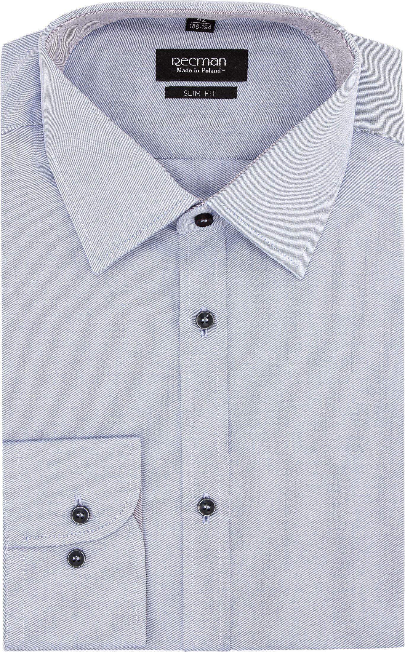 koszula bexley 2325 długi rękaw slim fit niebieski