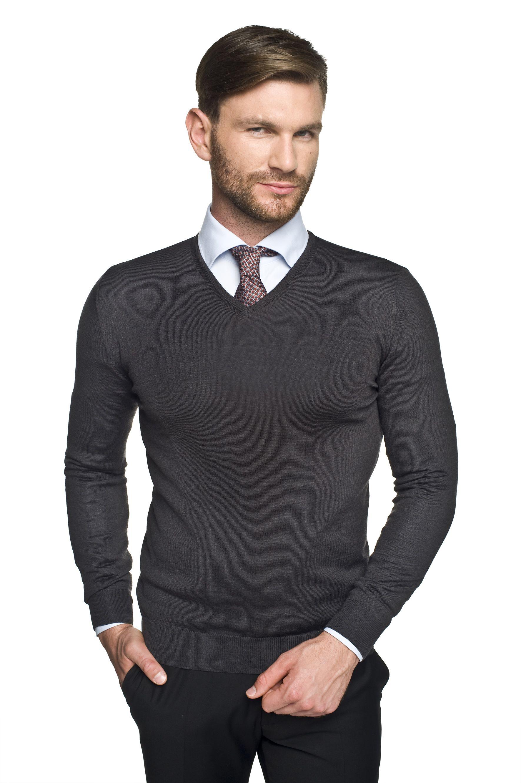 sweter valero w serek grafit