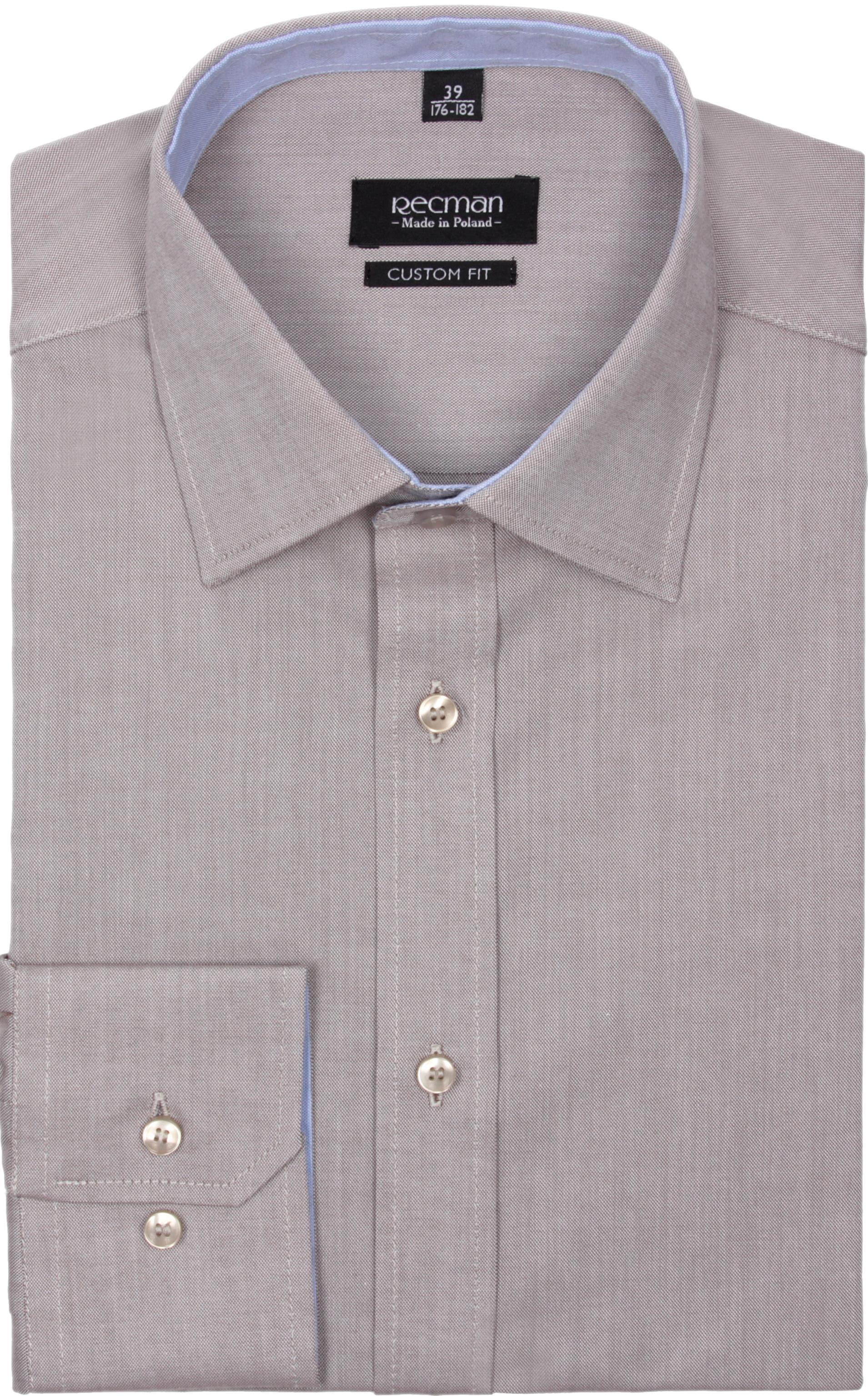 koszula bexley 2366 długi rękaw custom fit brąz