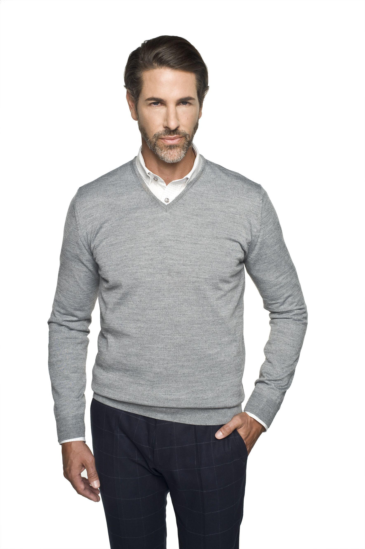 sweter valero w serek szary