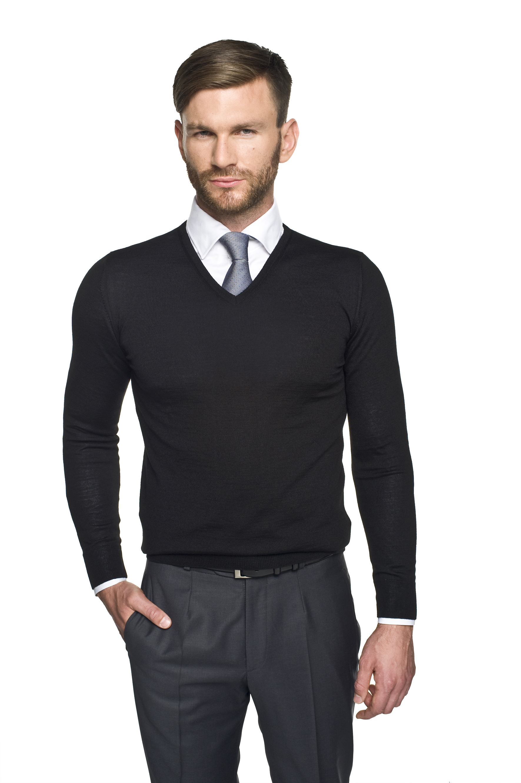 sweter valero w serek czarny