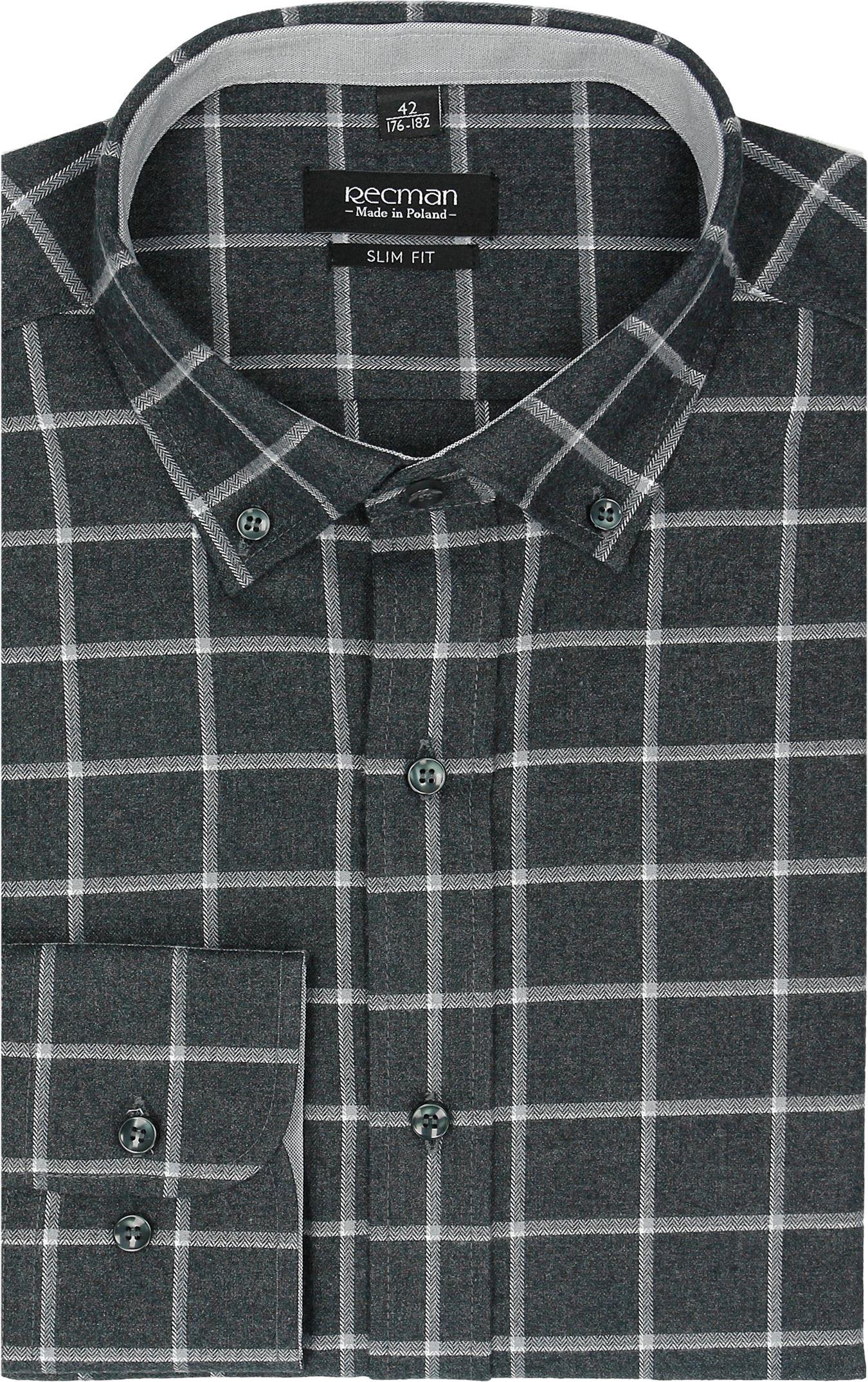 koszula bexley f2481 długi rękaw slim fit czarny