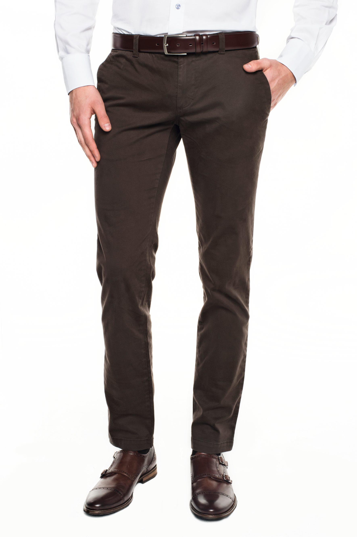 spodnie bimont 214 brąz 0001 slim fit