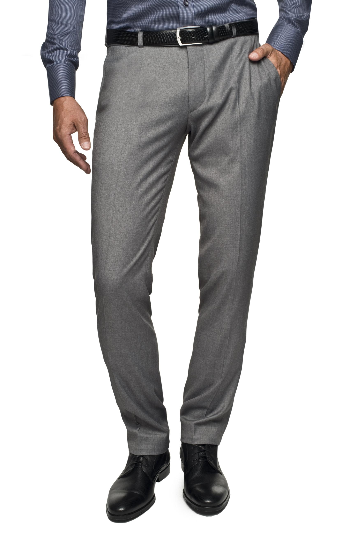 spodnie melfie 313 szary
