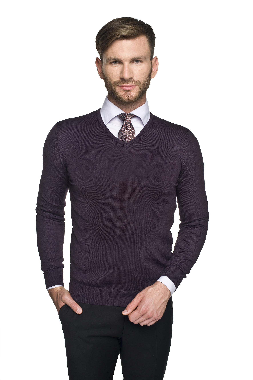 sweter valero w serek fiolet