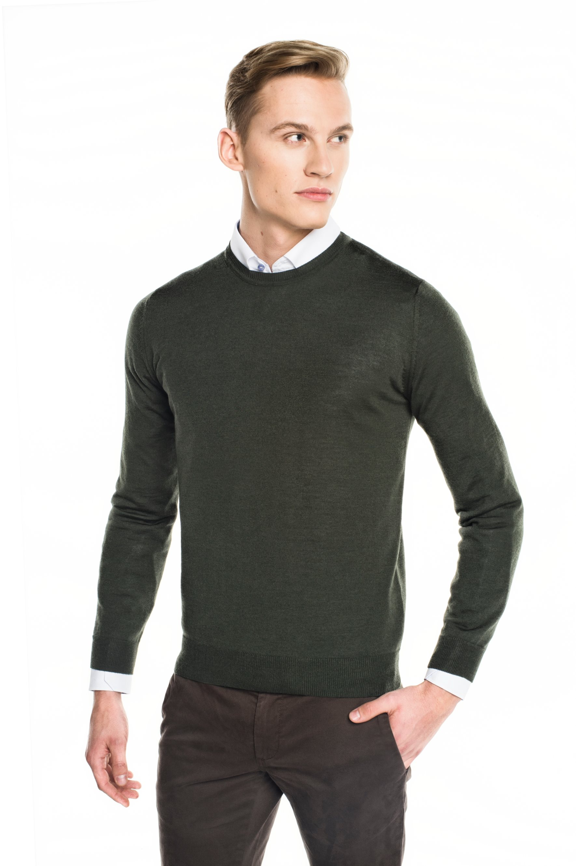 sweter versa półgolf zielony
