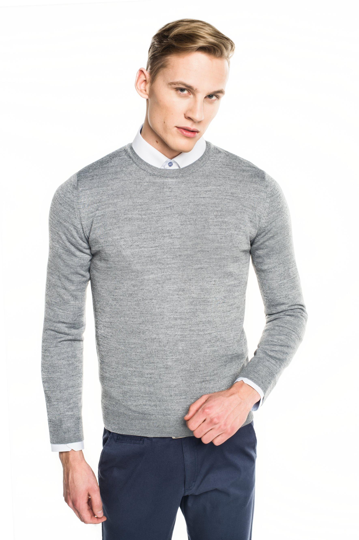 sweter versa półgolf szary