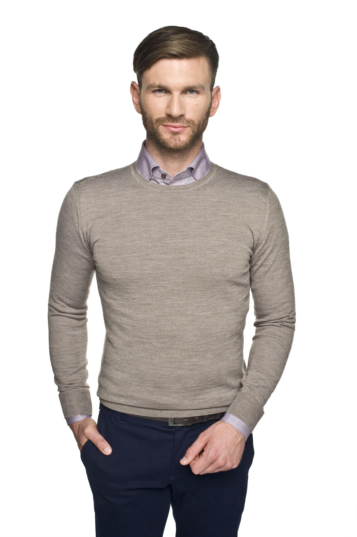 sweter versa półgolf beż