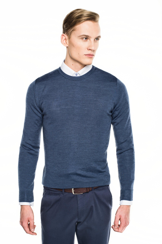 sweter versa półgolf niebieski