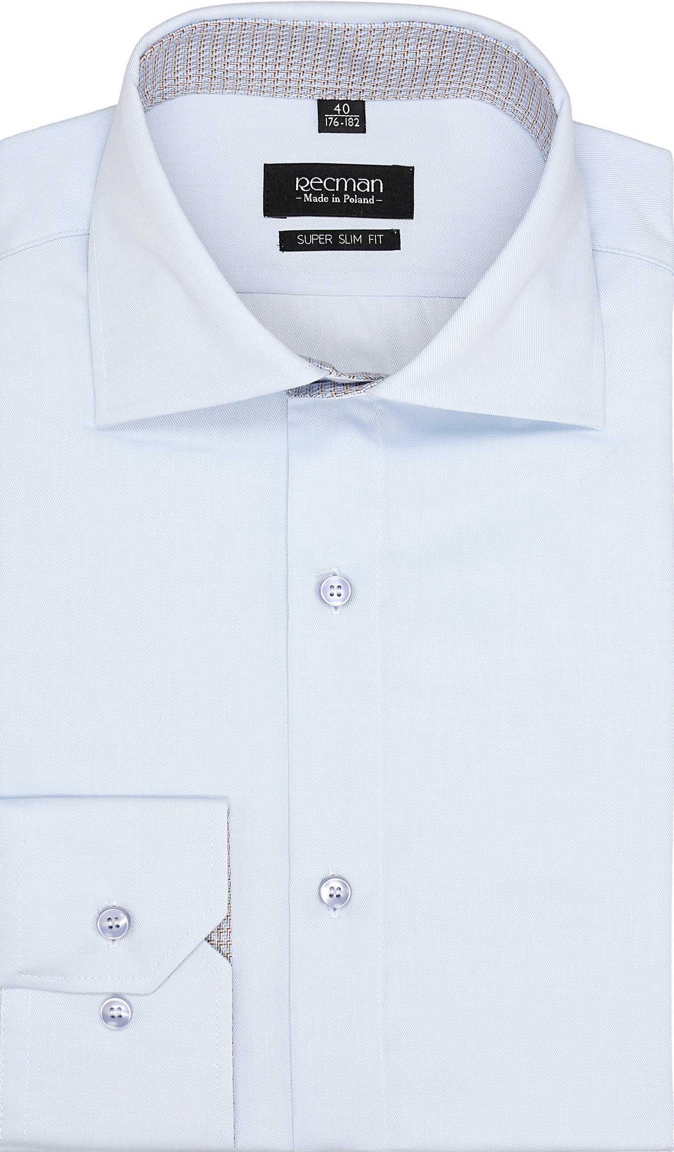 koszula bexley 2584 długi rękaw ssf niebieski
