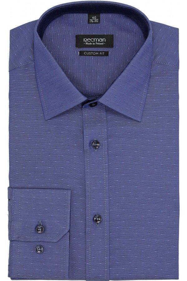 koszula bexley 2578 długi rękaw custom fit fiolet