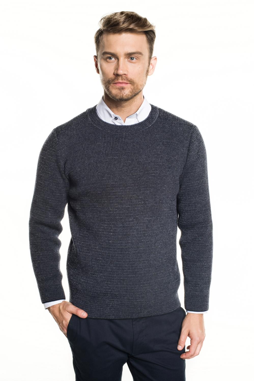 sweter farley półgolf granatowy