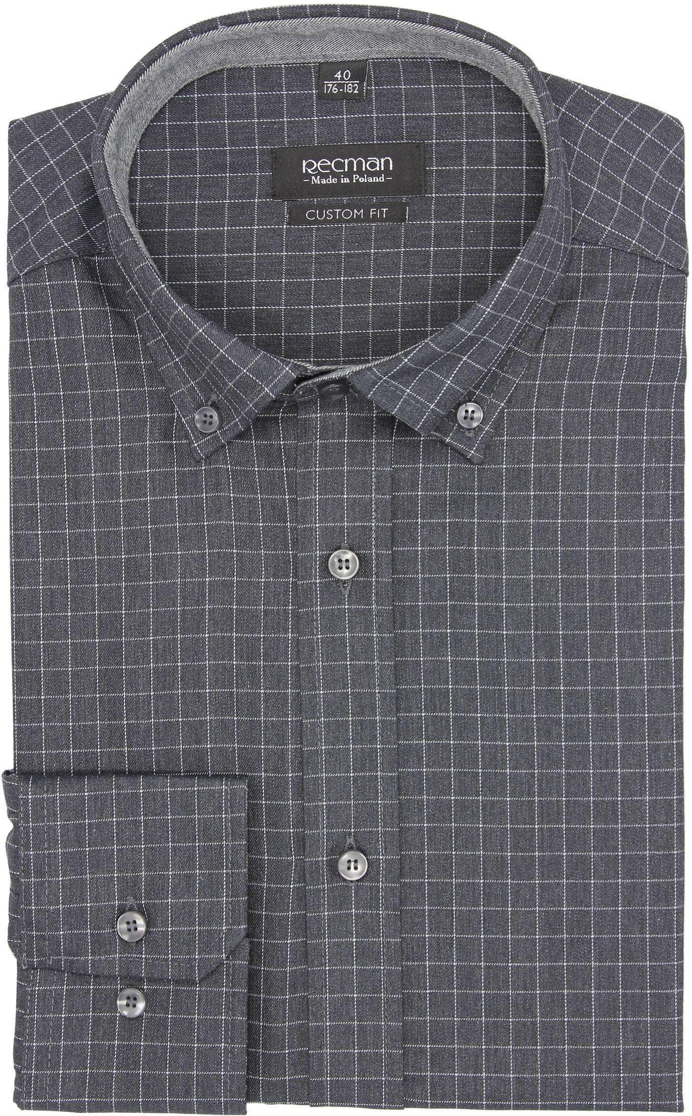 koszula bexley f2672 długi rękaw custom fit czarny