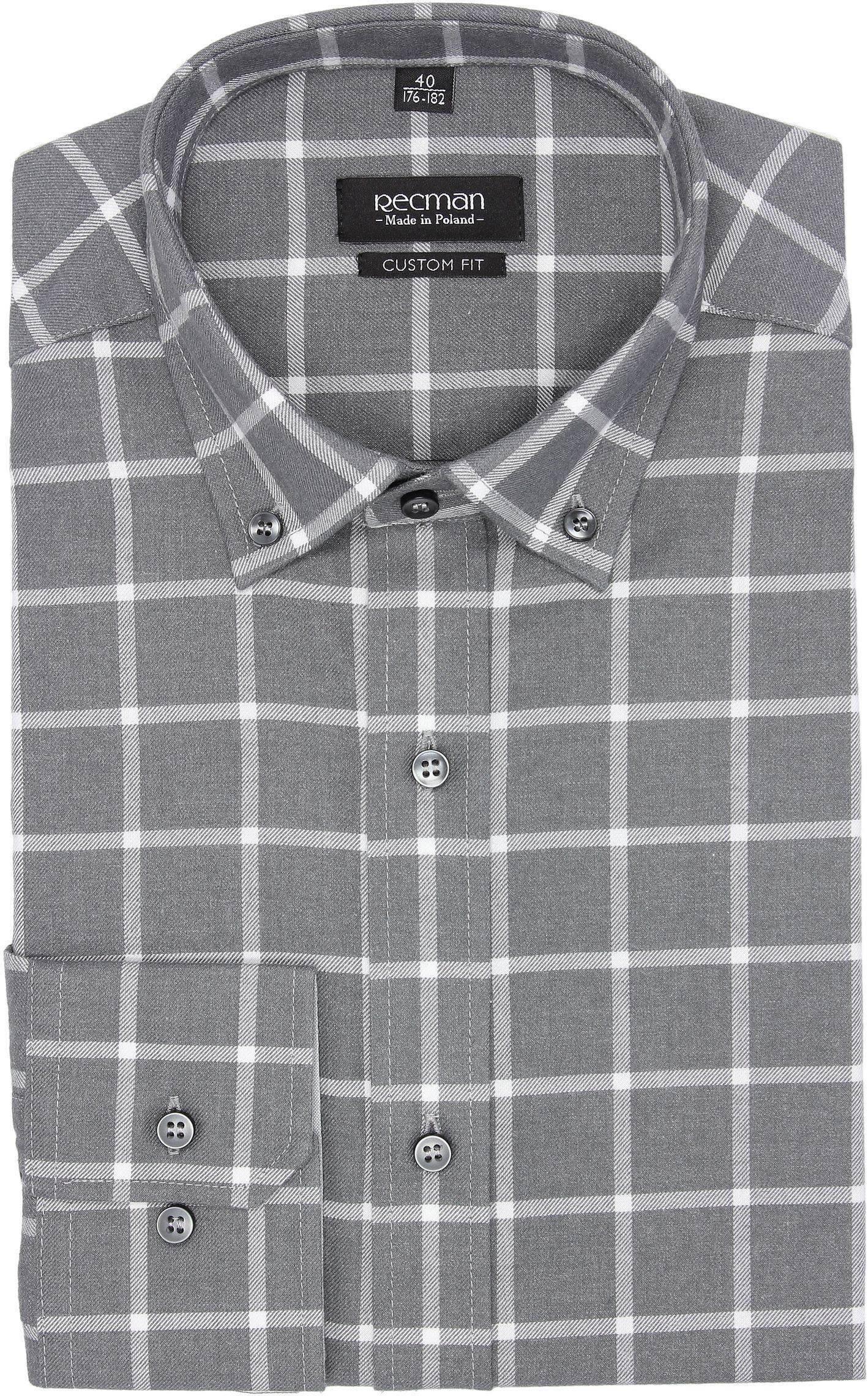 koszula bexley f2693 długi rękaw custom fit szary