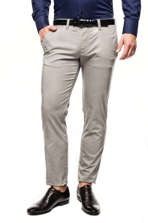spodnie davos 214 szary slim fit