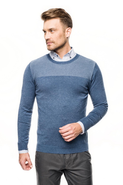sweter arosa półgolf niebieski