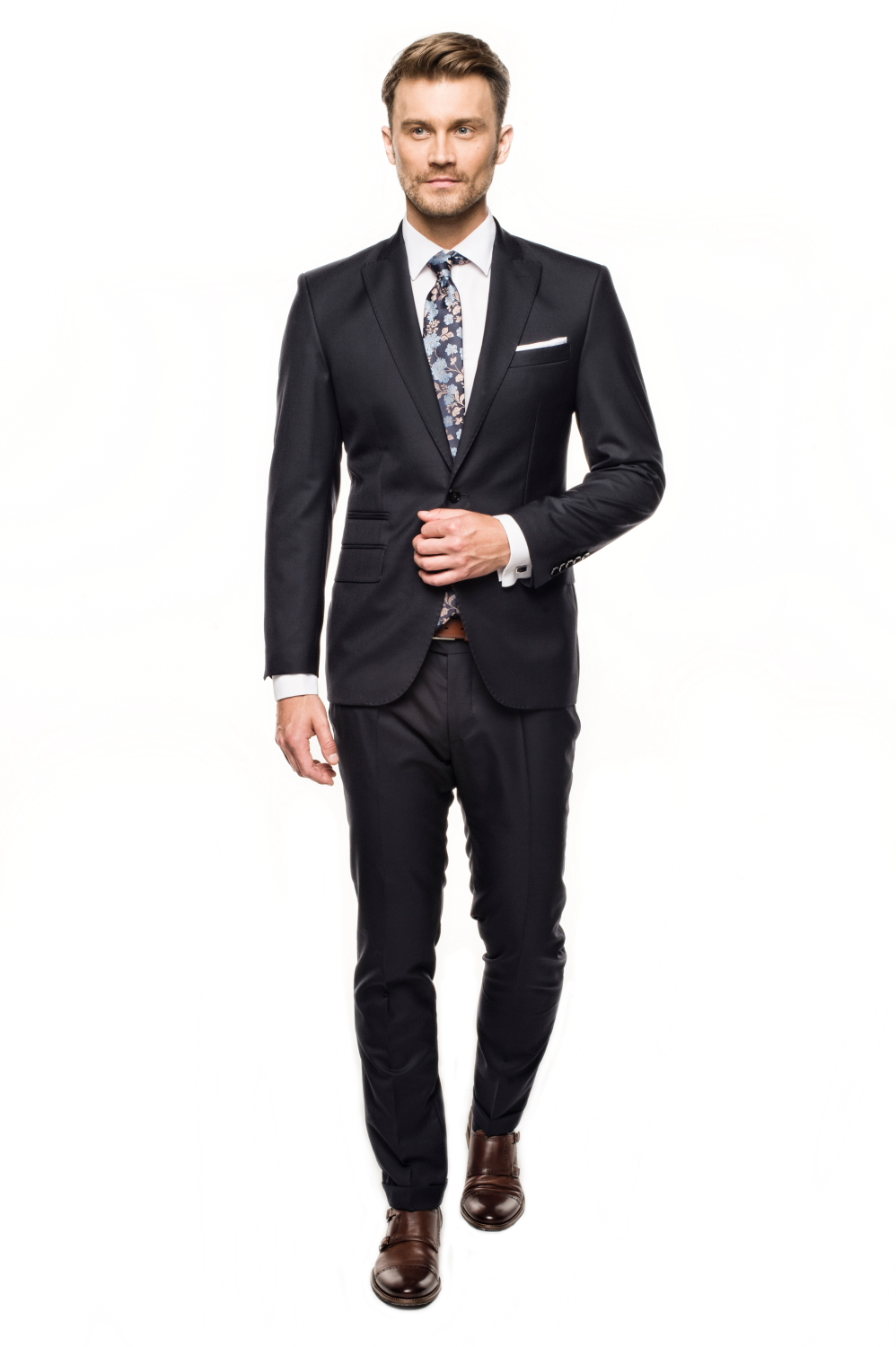 garnitur wind 311 granatowy slim fit