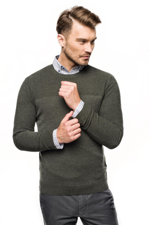 sweter ciliant półgolf oliwkowy