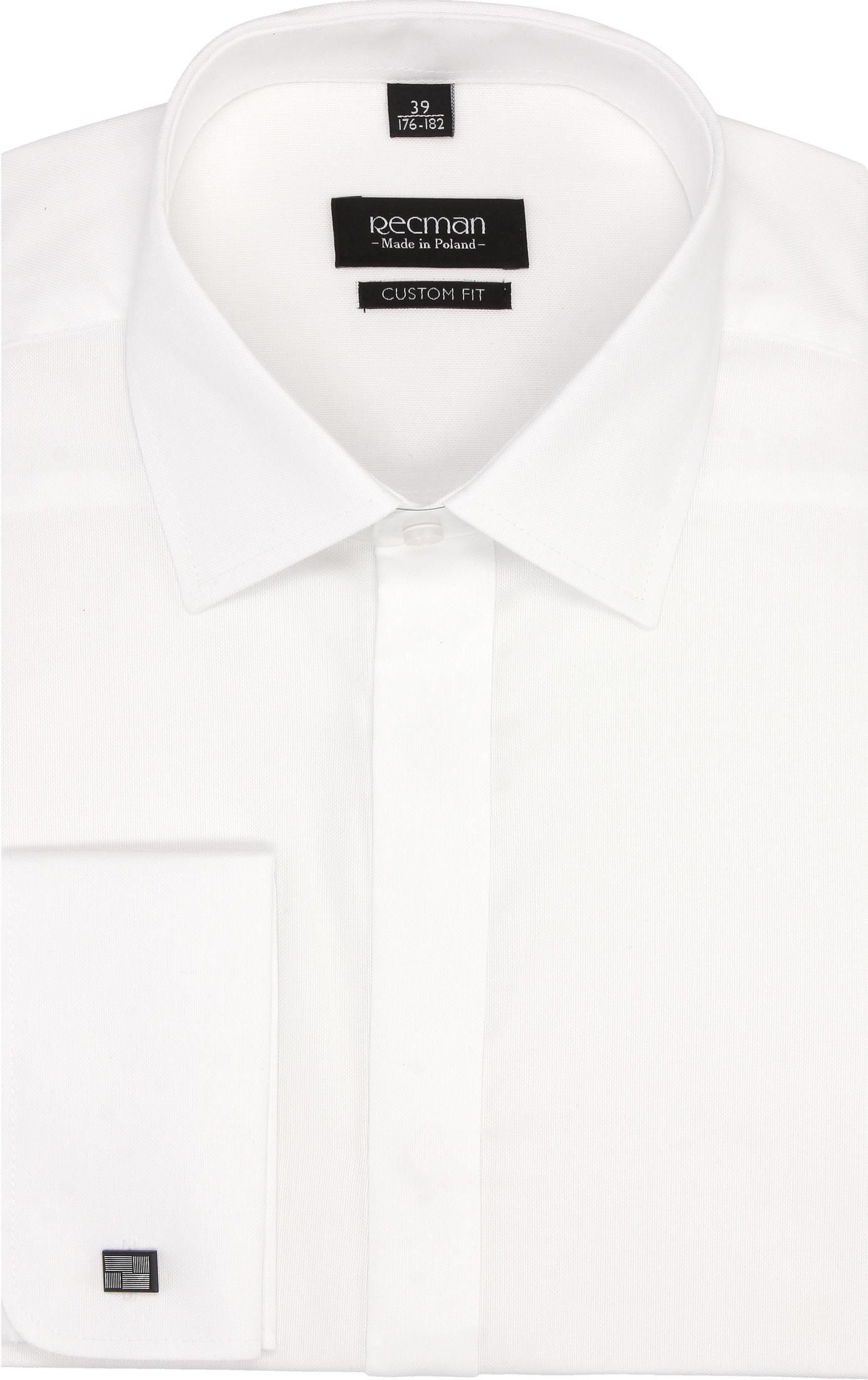 koszula versone 2734 na spinki custom fit biały