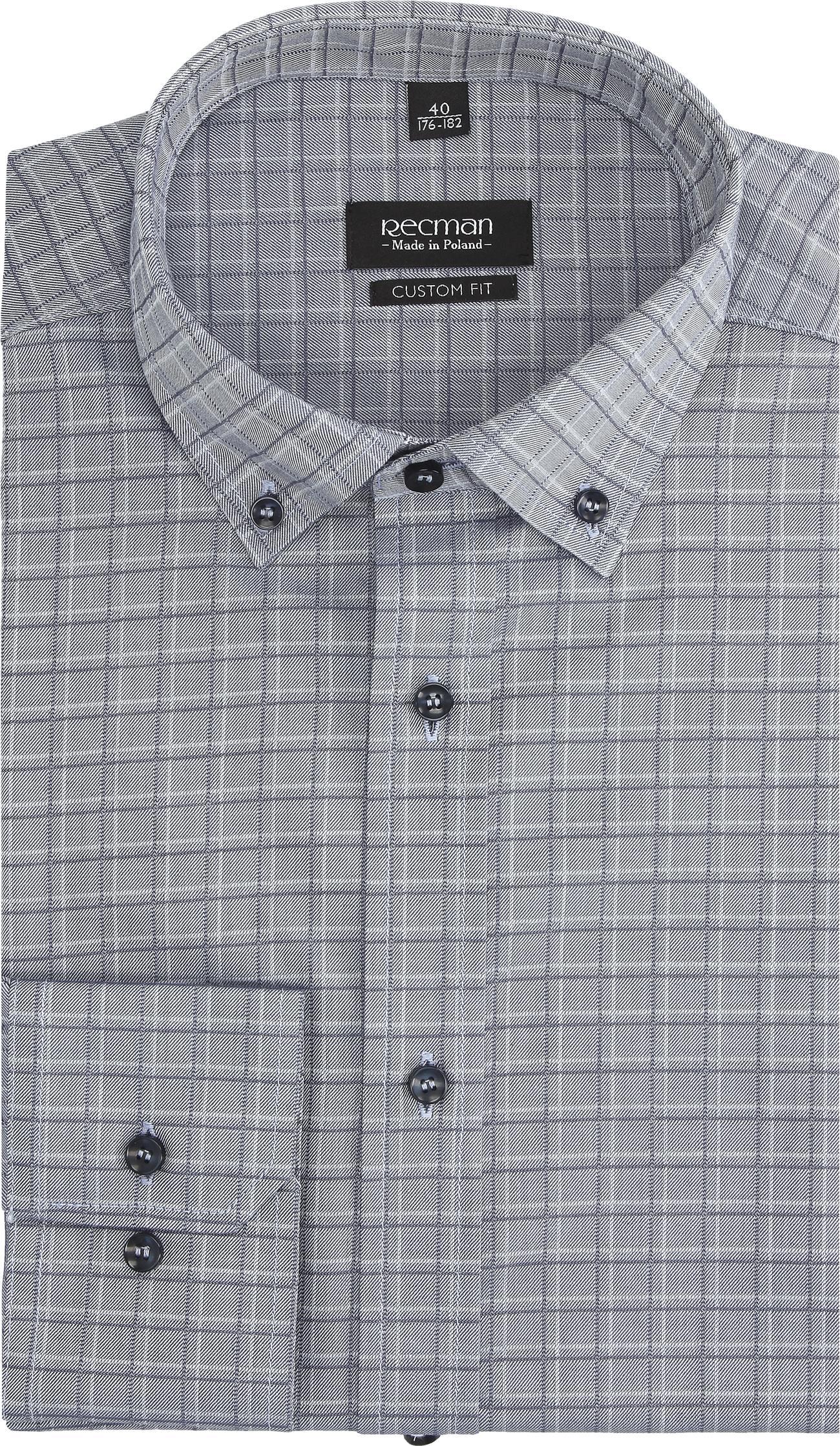 koszula versone 2757 długi rękaw custom fit niebieski