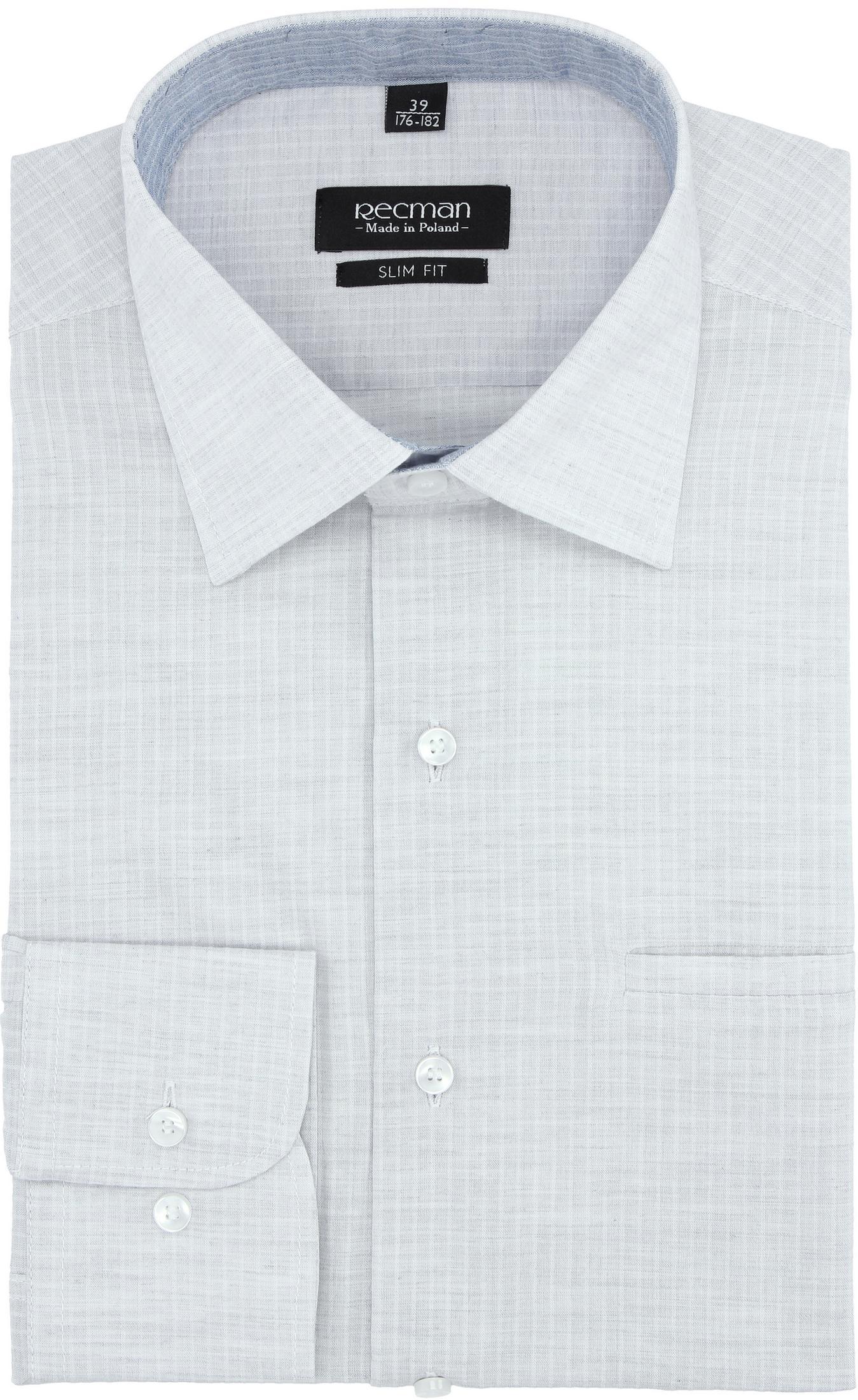 koszula bexley 2745 długi rękaw slim fit szary