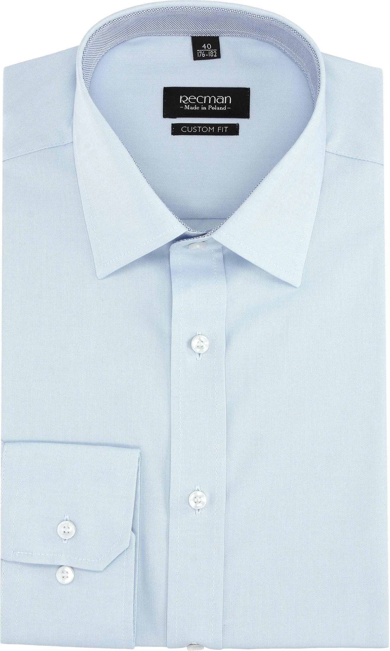 koszula bexley 2790 długi rękaw custom fit niebieski