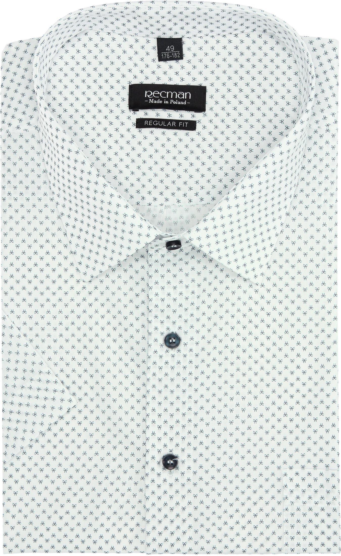 koszula bexley 2832 krótki rękaw regular fit biały
