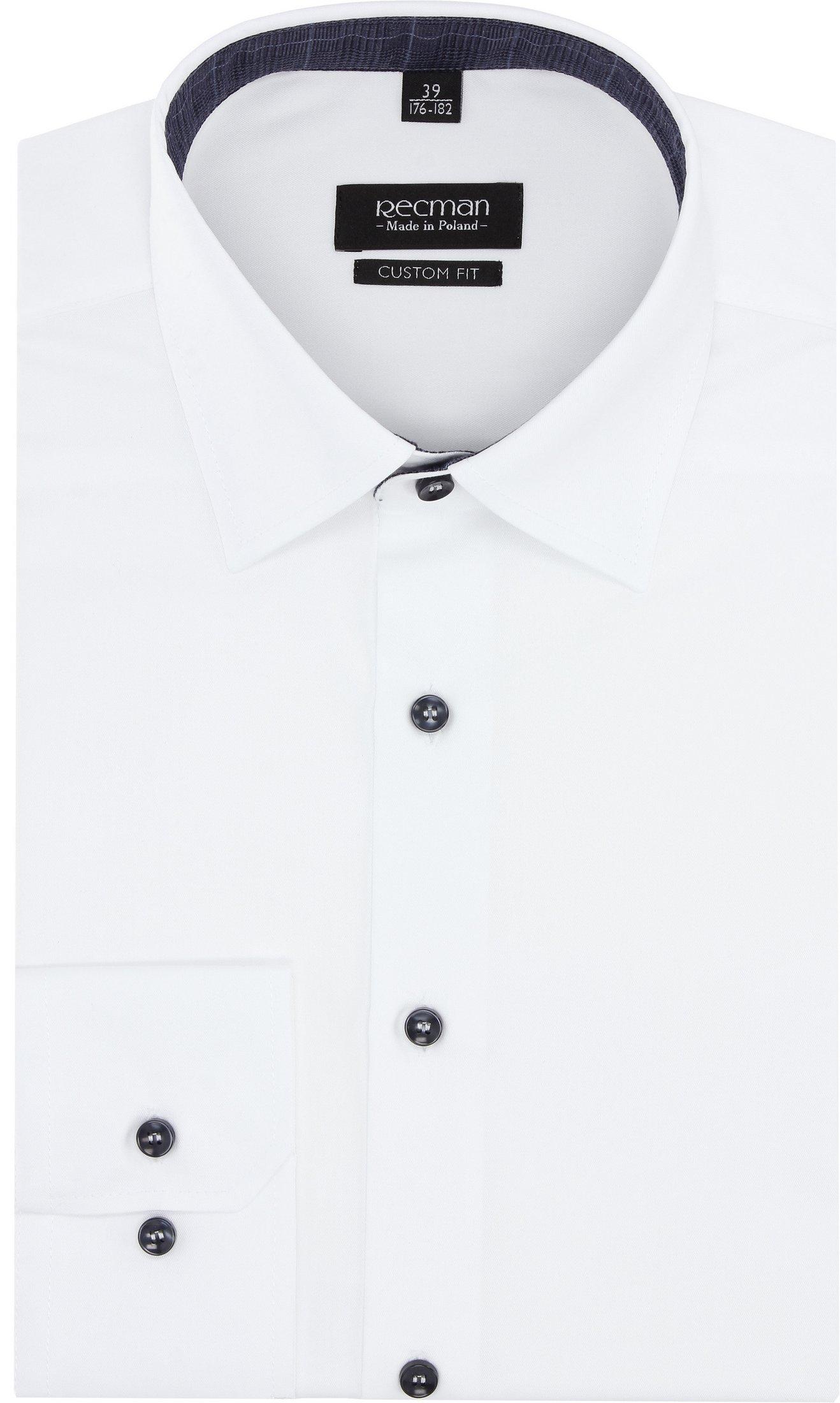 koszula bexley 2877 długi rękaw custom fit biały