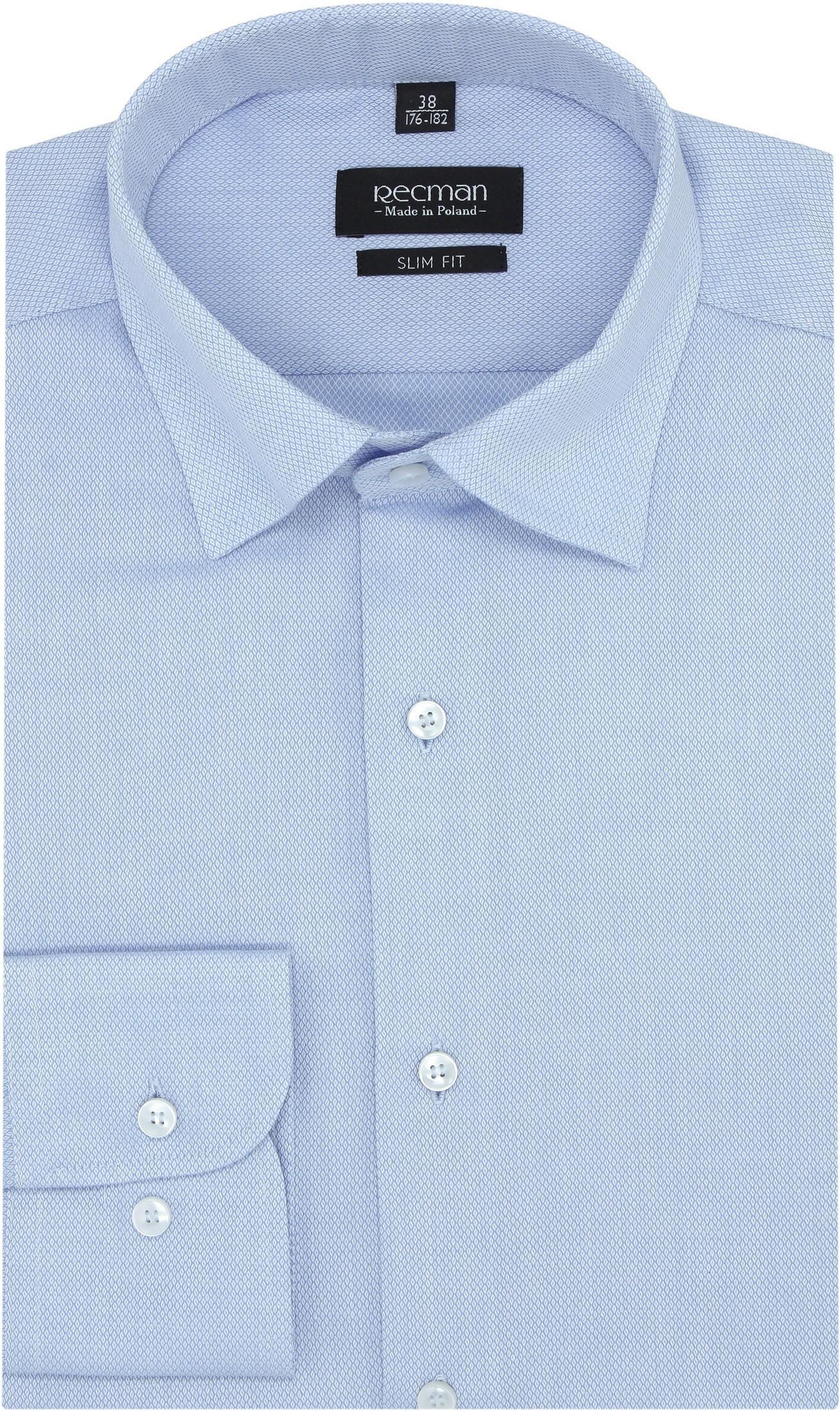 koszula versone 2817 długi rękaw slim fit niebieski