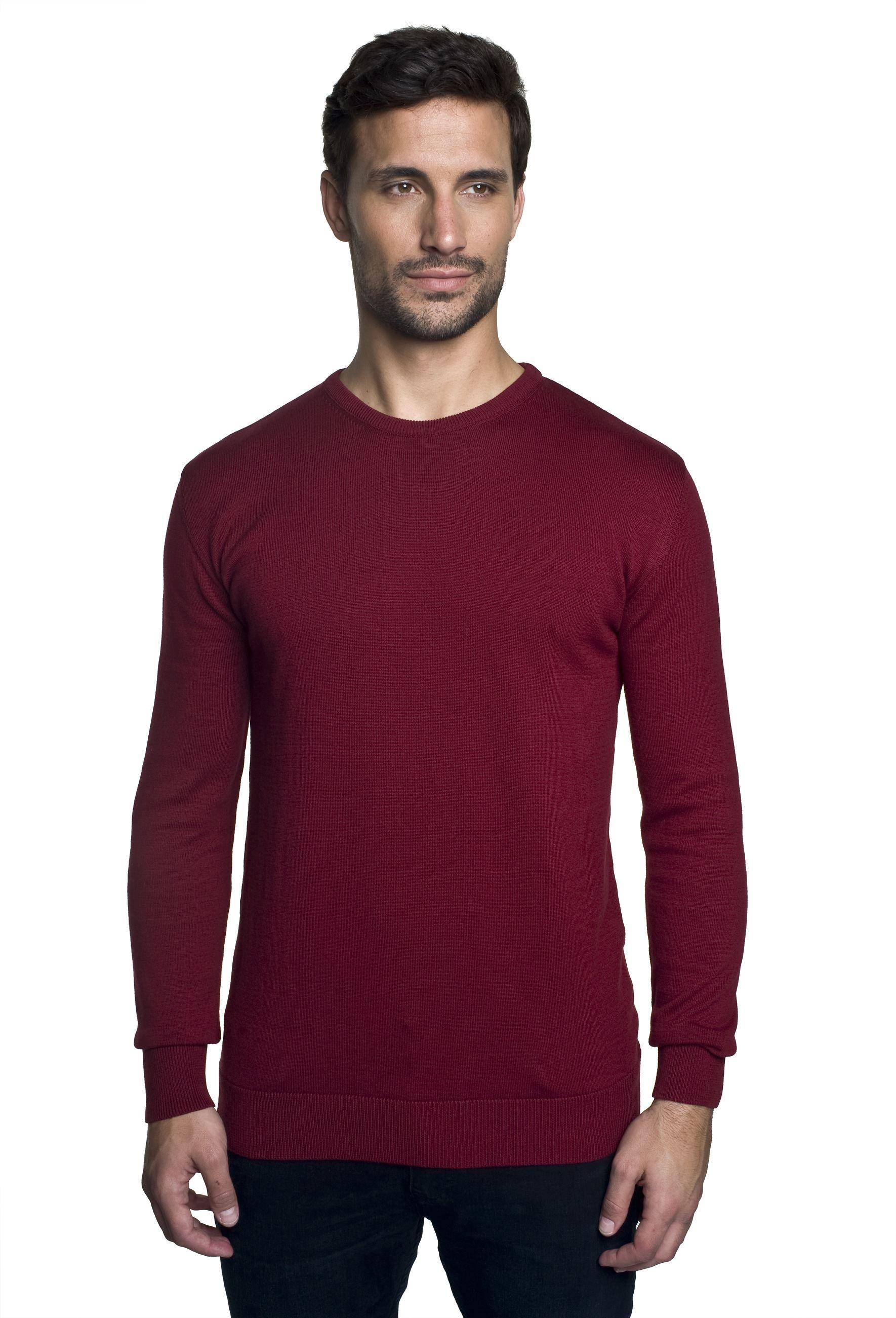sweter darton półgolf bordo