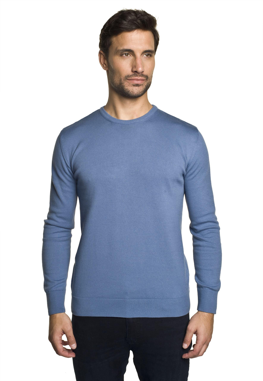 sweter darton półgolf niebieski 0001