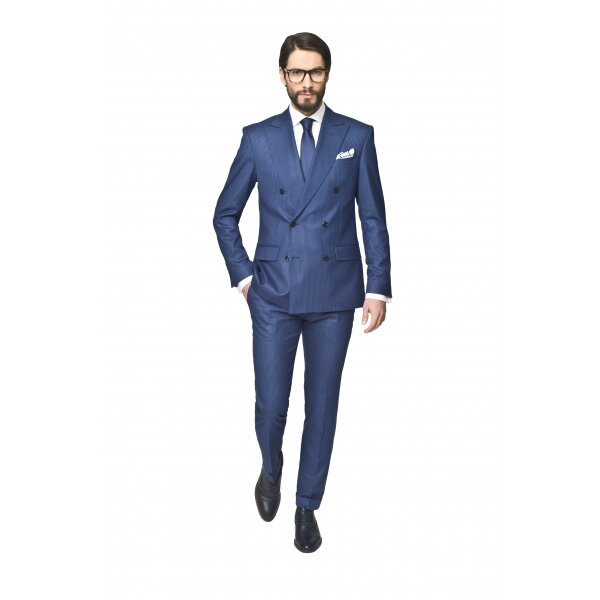 garnitur brit 311 granatowy slim fit
