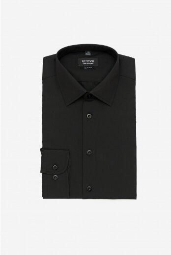 koszula versone cod4 długi rękaw slim fit czarny