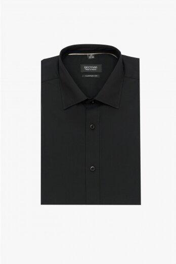 koszula versone cod4 krótki rękaw custom fit czarny