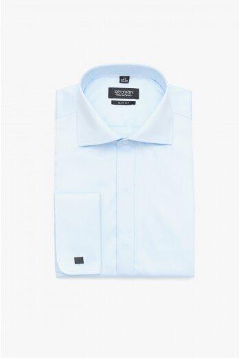 koszula versone 2509 na spinki slim fit niebieski