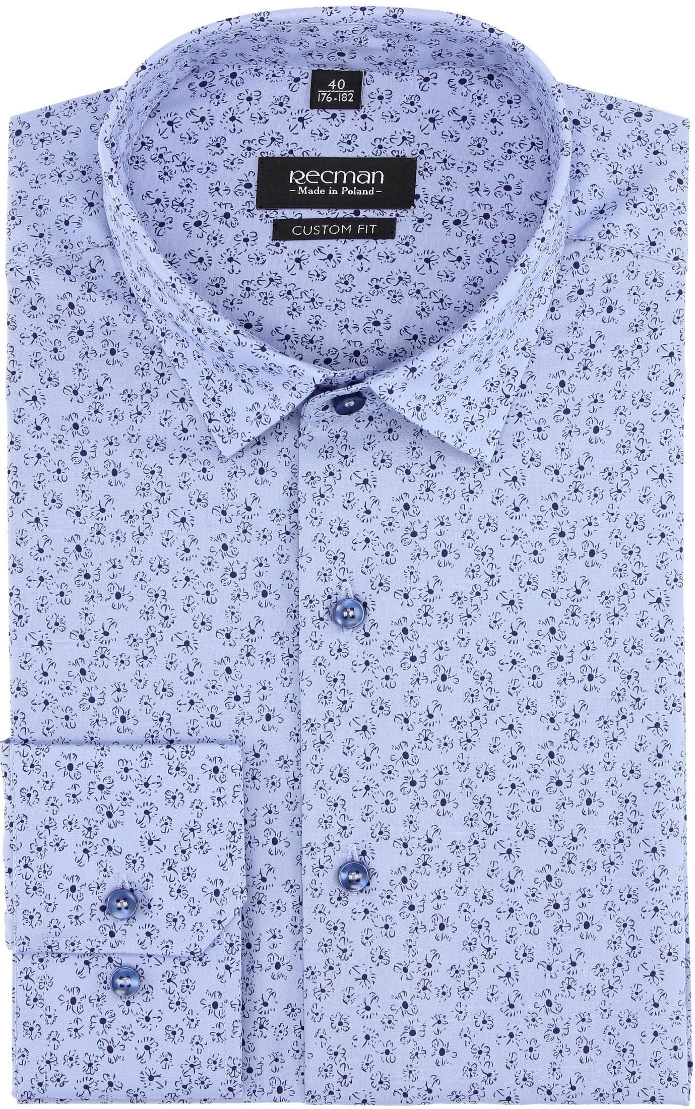 c2e0bd562 koszula versone 2837 długi rękaw custom fit niebieski - oficjalny sklep  online Recman