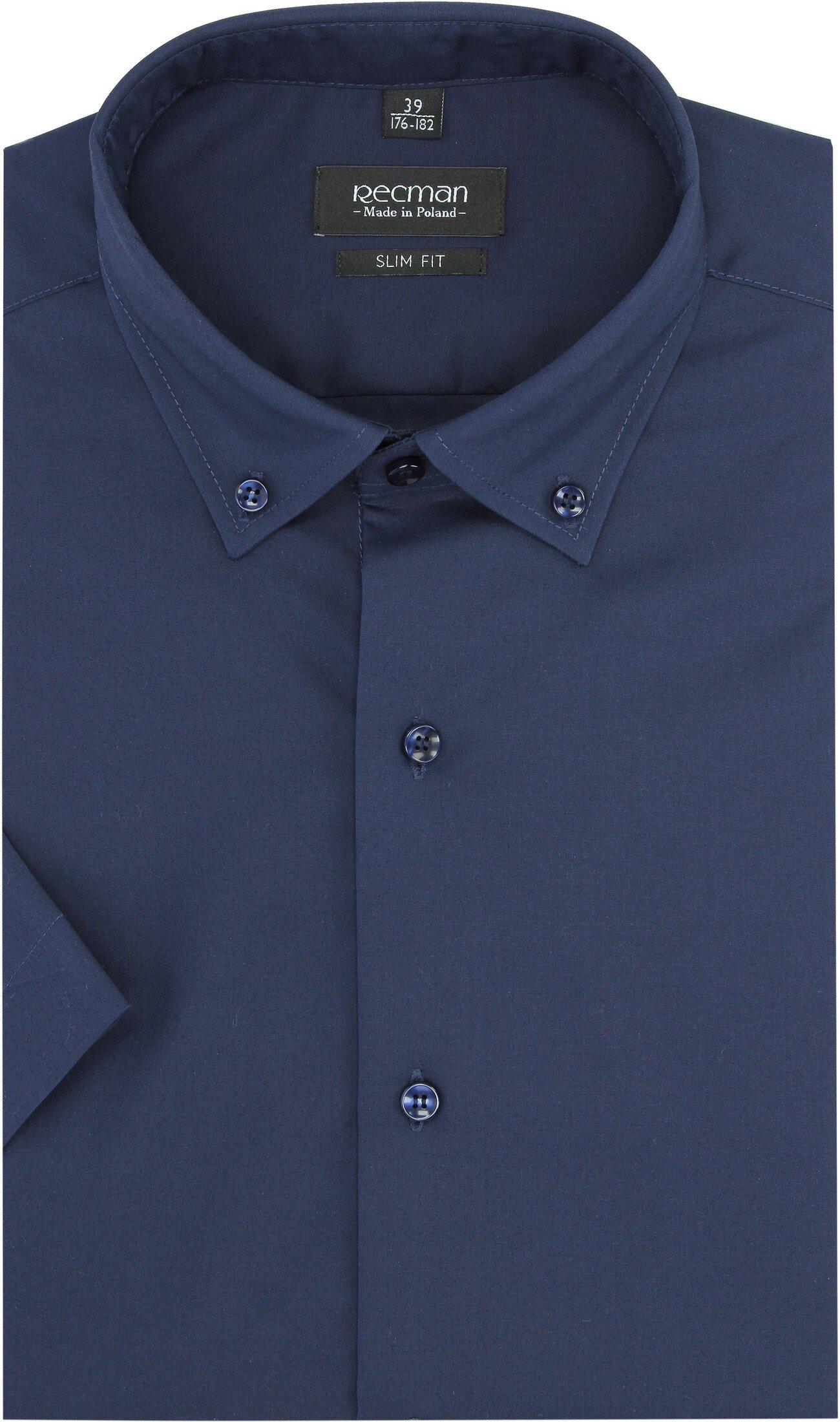 b26e93a04476fd koszula versone 2915 krótki rękaw slim fit granatowy - oficjalny ...