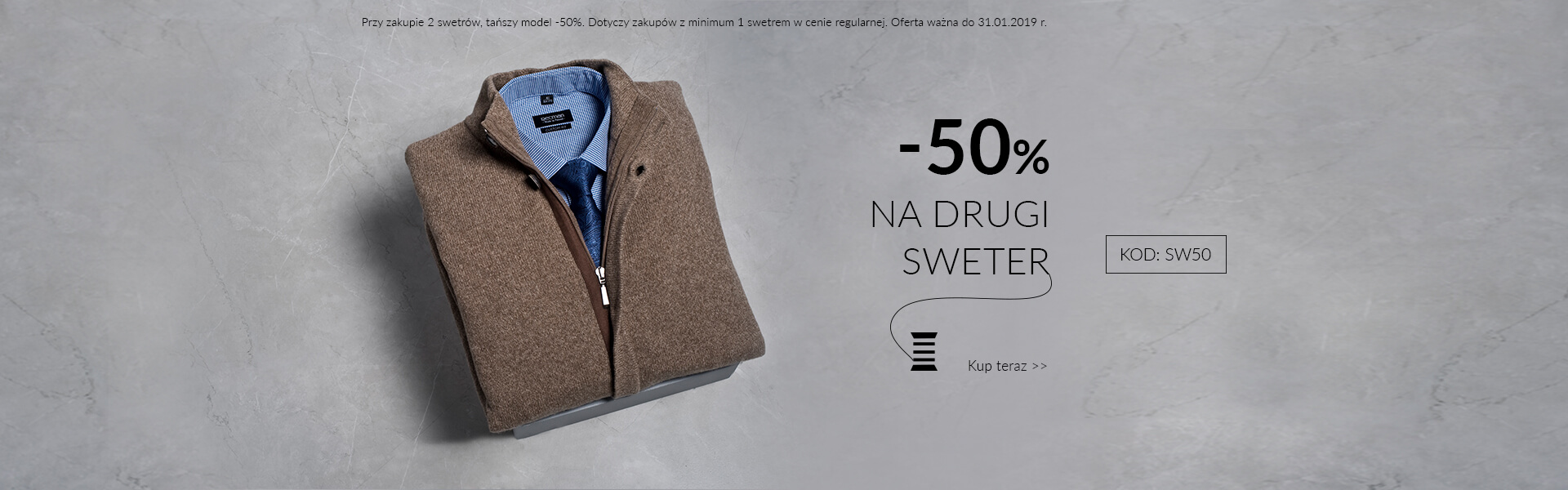 Sweter - 50%