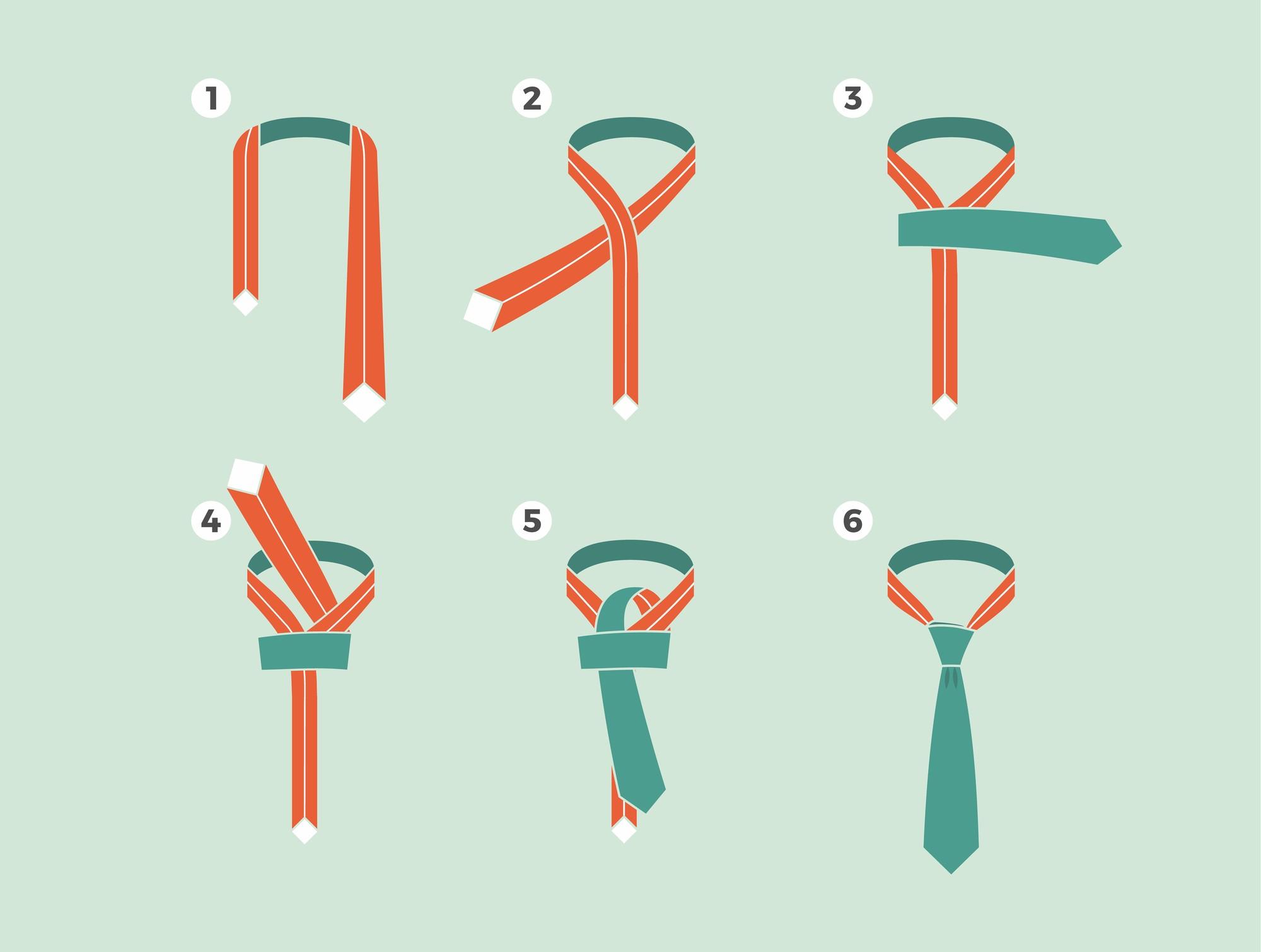 Wiązanie krawata metodą orientalną