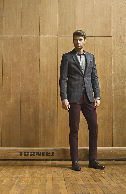 bordowe spodnie męskie