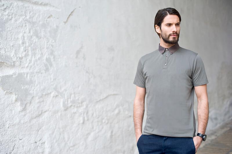oliwkowa koszulka polo