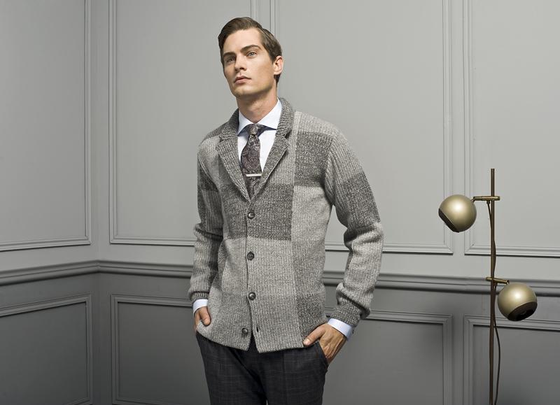 sweter do eleganckiej koszuli męskiej