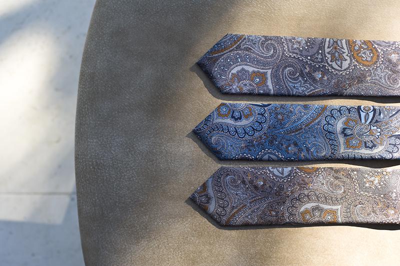 Kolorowe krawaty paisley