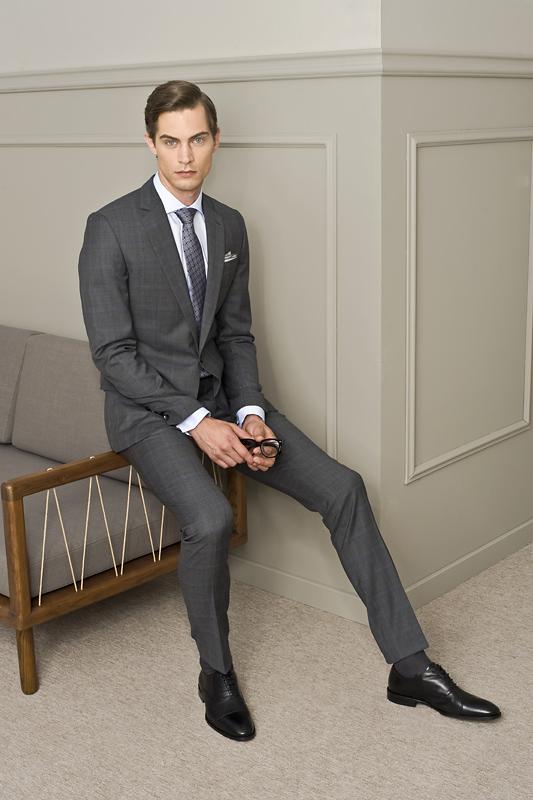 spodnie do garnituru dla wysokiego mężczyzny