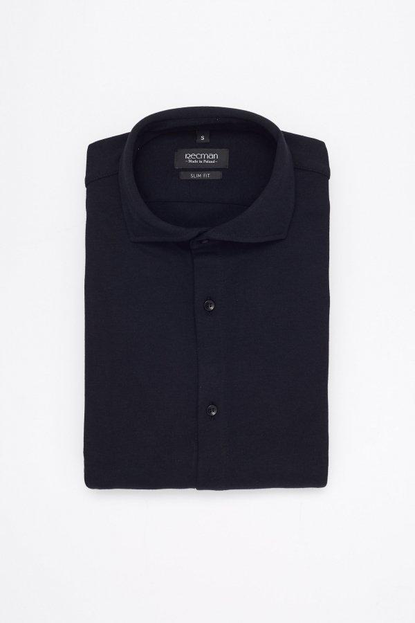 Czarna koszula męska slim fit